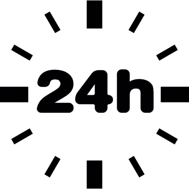 24 stunden ohne rand download der kostenlosen icons. Black Bedroom Furniture Sets. Home Design Ideas