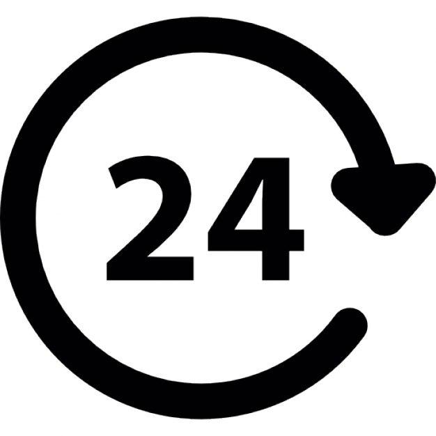 24 Stunden Service, iOS-7-Schnittstelle Symbol | Download der ...
