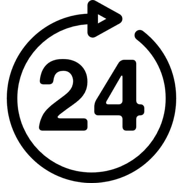 24 stunden zeichen download der kostenlosen icons. Black Bedroom Furniture Sets. Home Design Ideas