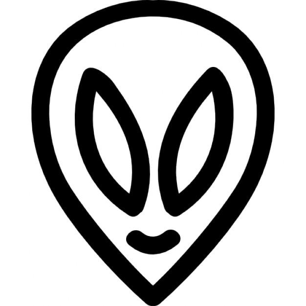 Alien Hand gezeichnet Kopf Umriss   Download der kostenlosen Icons