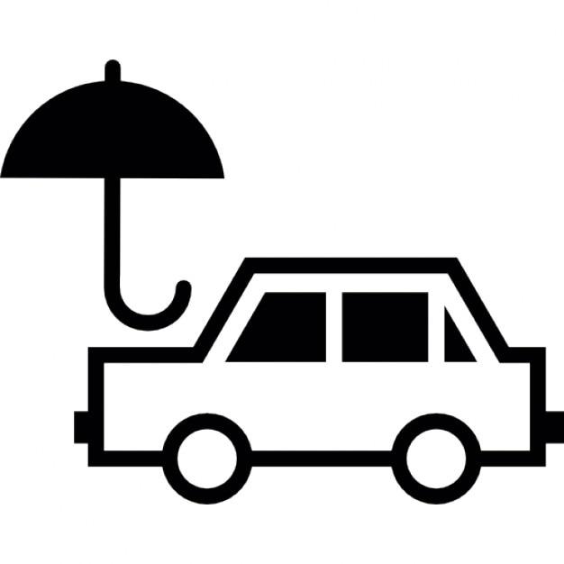 auto mit einem regenschirm download der kostenlosen icons. Black Bedroom Furniture Sets. Home Design Ideas