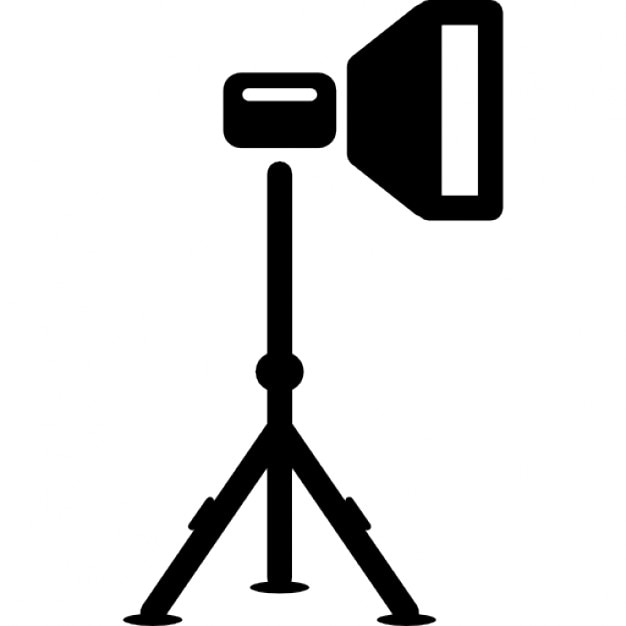beleuchtung lampe auf einem stativ von fotoausr stung download der kostenlosen icons. Black Bedroom Furniture Sets. Home Design Ideas
