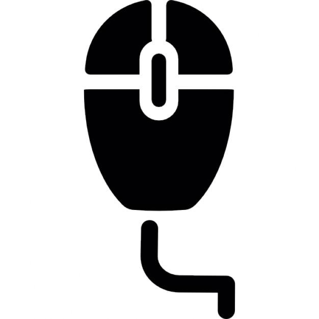 Computer-Maus mit Kabel-Silhouette | Download der kostenlosen Icons