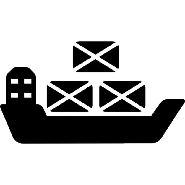 Container auf ozeanischen Schiff   Download der ...