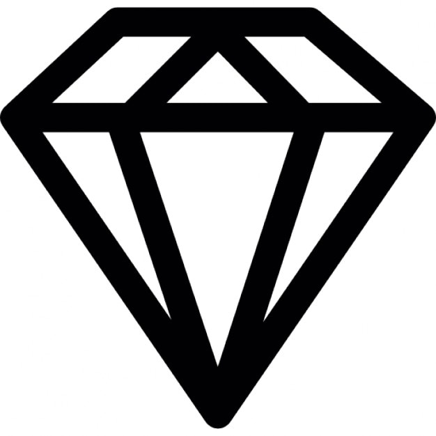 Diamantring gezeichnet  Diamant-Umriss | Download der kostenlosen Icons