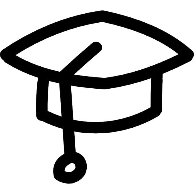 Diplom-Hand gezeichnet Hut Umriss | Download der kostenlosen Icons
