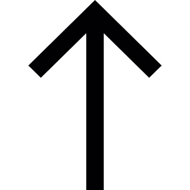 Dünnen Pfeil nach oben Kostenlose Icons