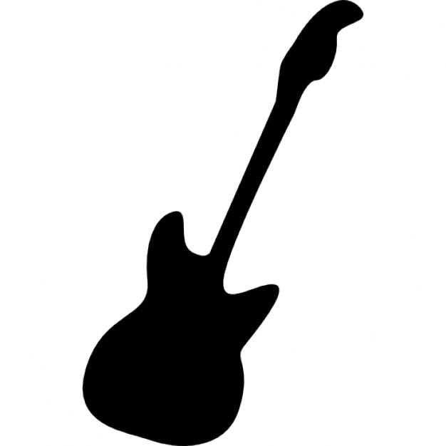 E-Bass-Gitarre Silhouette | Download der kostenlosen Icons