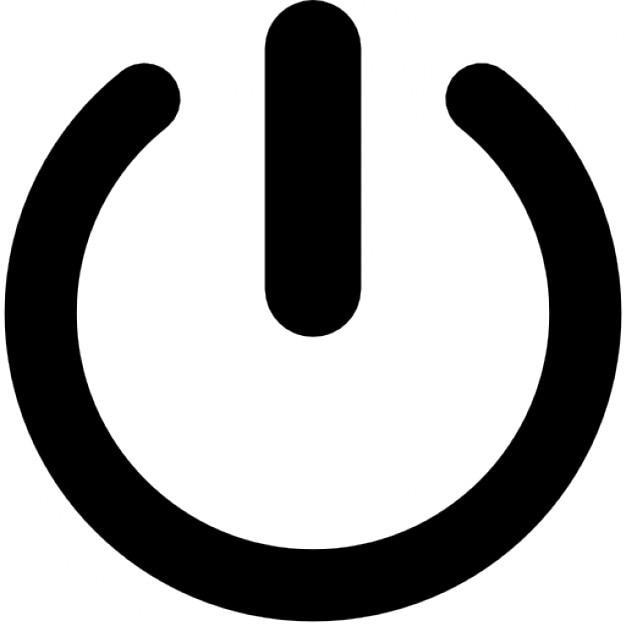 Einfache ein / aus-taste Kostenlose Icons