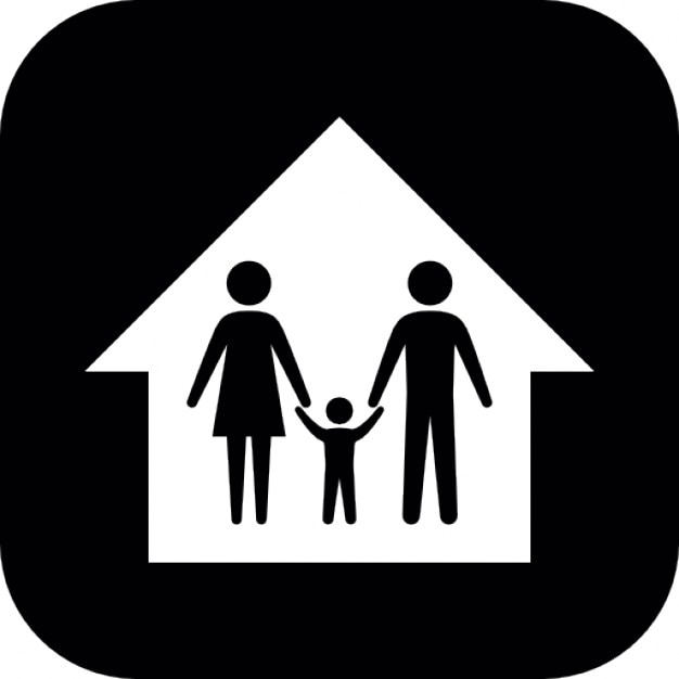 familie in einem haus download der kostenlosen icons. Black Bedroom Furniture Sets. Home Design Ideas