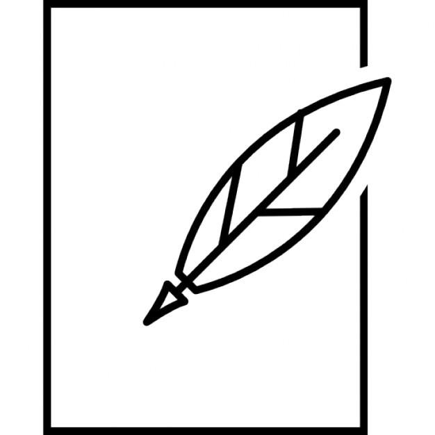 feder und papier umriss download der kostenlosen icons. Black Bedroom Furniture Sets. Home Design Ideas