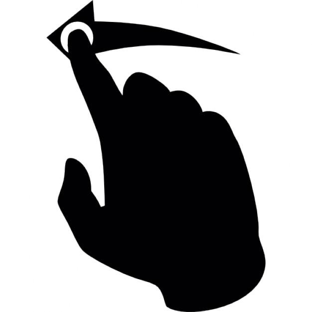 Finger Bewegung nach links | Download der kostenlosen Icons