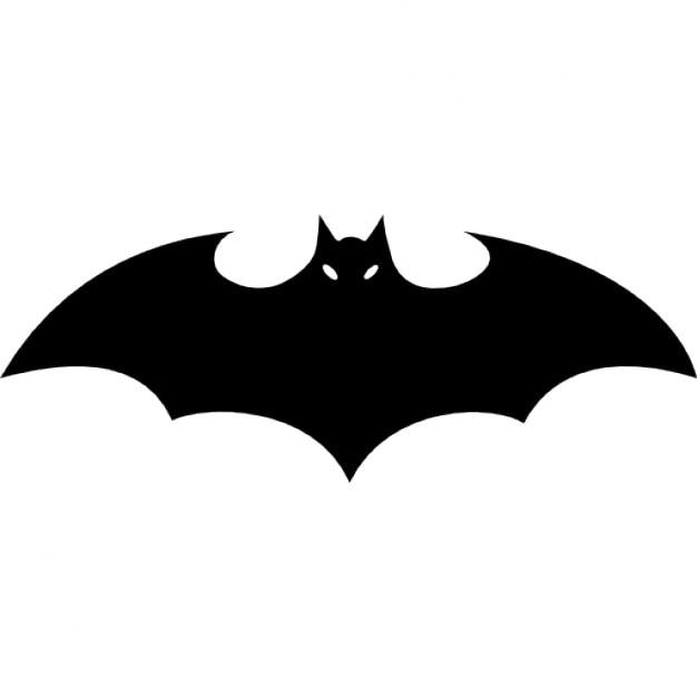 Fledermaus-Silhouette mit ausgebreiteten Flügeln | Download der ...