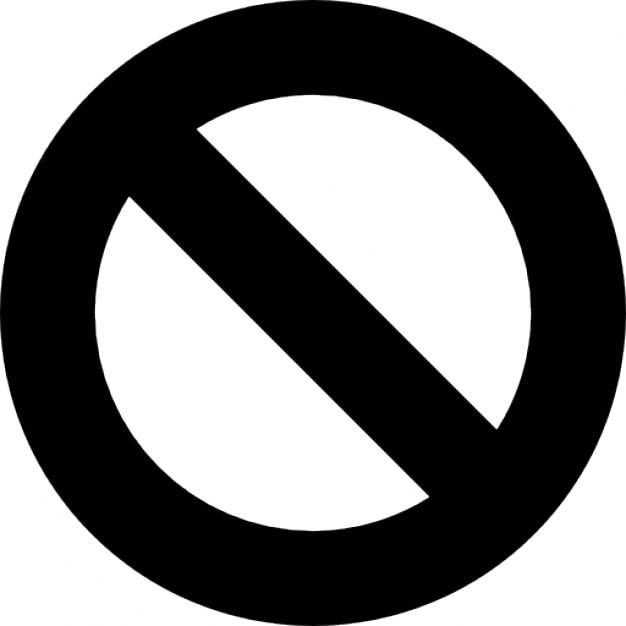Forbidden simbol Kostenlose Icons