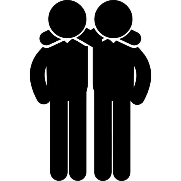 Freunde umarmen Männer Seite an Seite   Download der ...