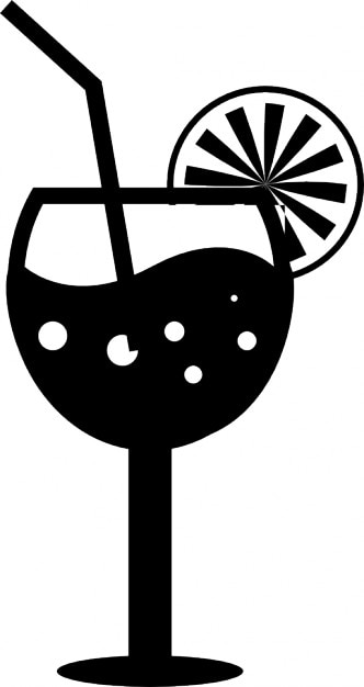 Drink And Glass Silhouette