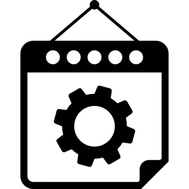 Gang auf Mechaniker hängenden Kalender-Seite   Download der ...