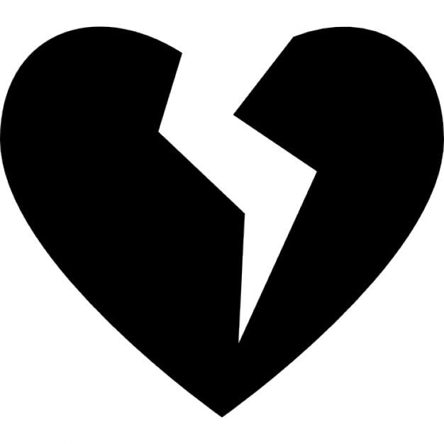 gebrochenes herz silhouette  download der kostenlosen icons