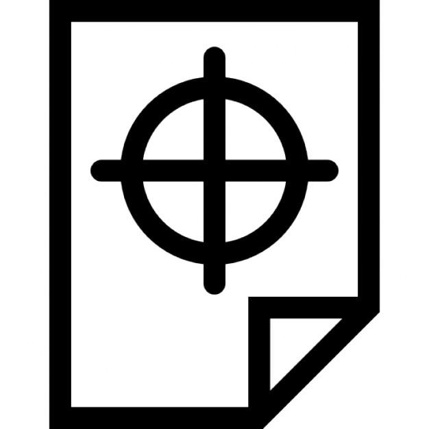 Gefaltete Papier umreißen mit Fadenkreuz | Download der kostenlosen ...