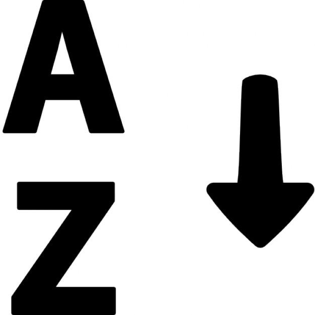 Gleiten alphabet Kostenlose Icons