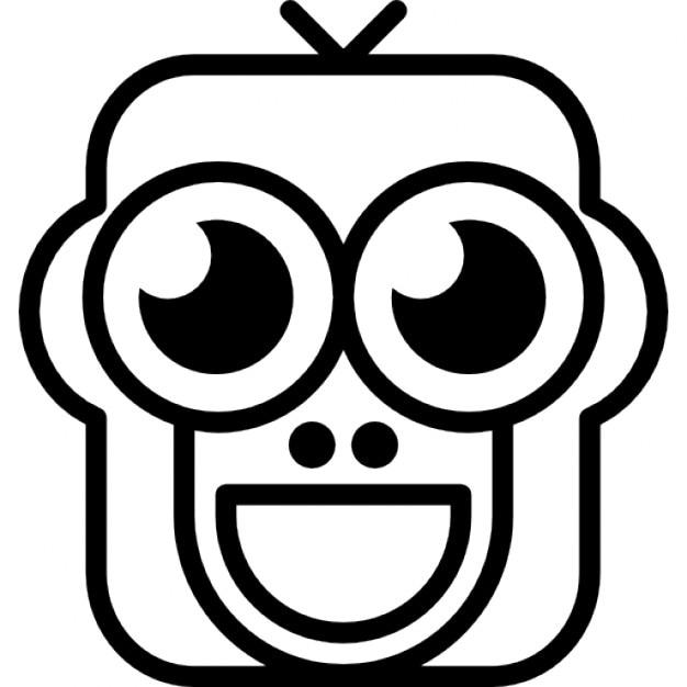 Glücklich Affen Gesicht Variante   Download der kostenlosen Icons