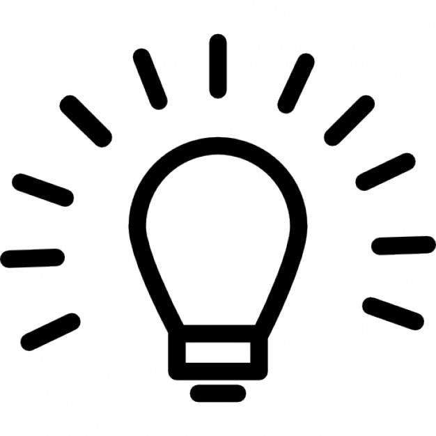 Glühbirne Umriss Zeichen in einem Kreis | Download der kostenlosen Icons
