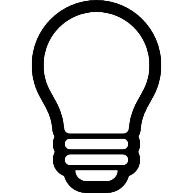 Glühbirne Umriss | Download der kostenlosen Icons