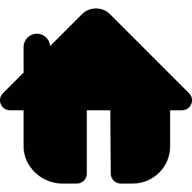 Haus clipart schwarz weiß  Haus in schwarz abgerundete Form Variante | Download der ...