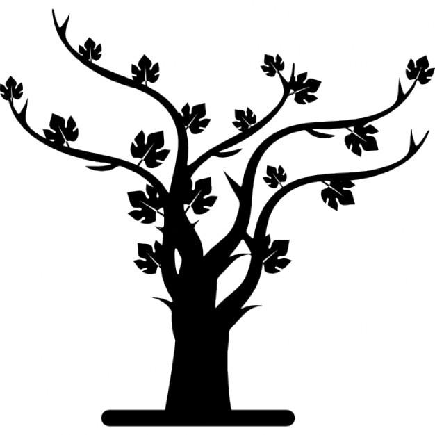 Herbst Baum-Silhouette   Download der kostenlosen Icons