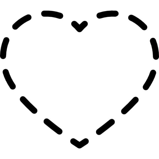 Herz der gestrichelten Linie | Download der kostenlosen Icons
