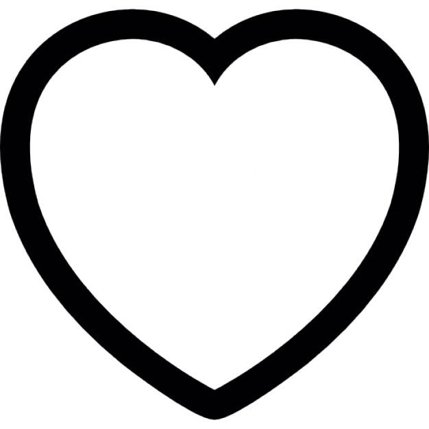 Herz-Kontur   Download der kostenlosen Icons