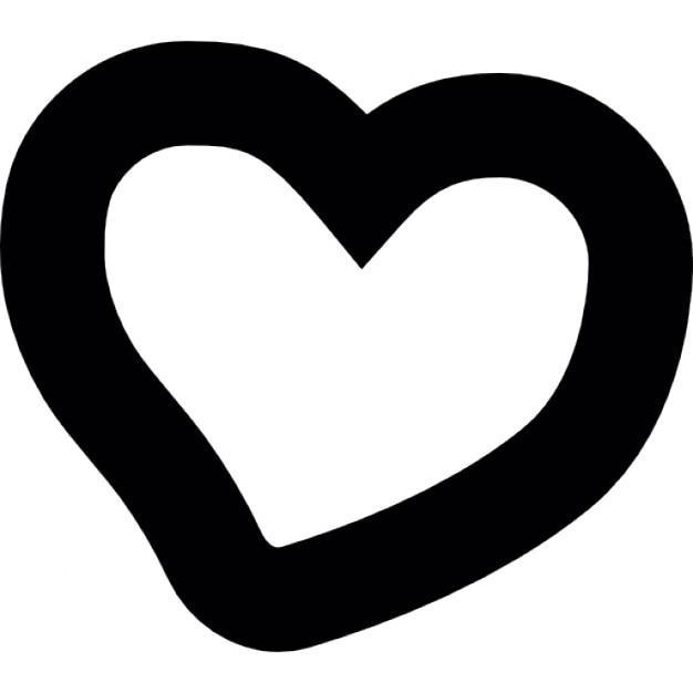 Herz unregelmäßige Form von Hand zeichnen | Download der kostenlosen ...