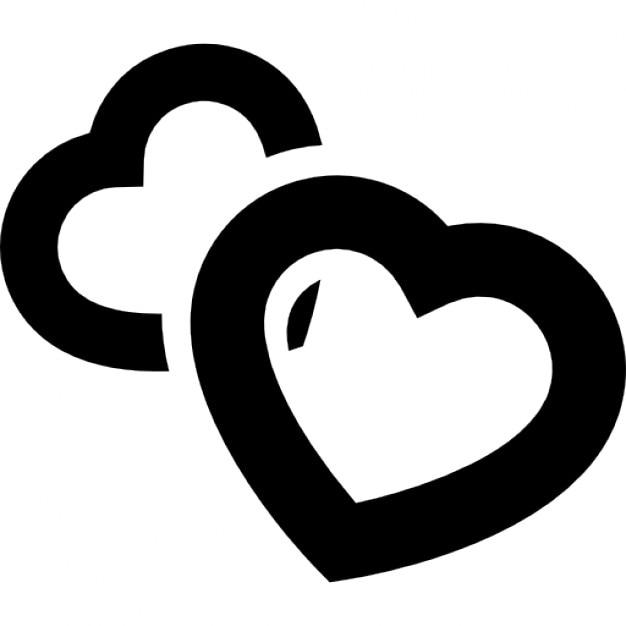 Herzen skizziert des Brutto Linien | Download der kostenlosen Icons