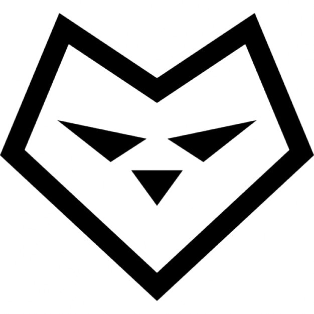 Herzförmige Gesicht Wolf | Download der kostenlosen Icons