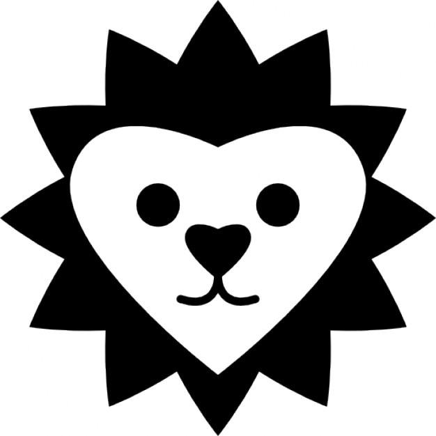 Herzförmige Löwen Gesicht | Download der kostenlosen Icons