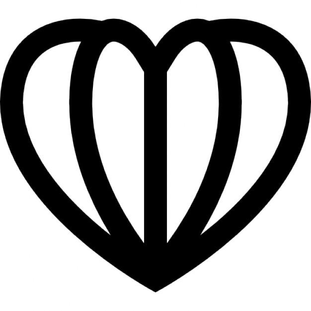 Herzförmige offenes Buch | Download der kostenlosen Icons