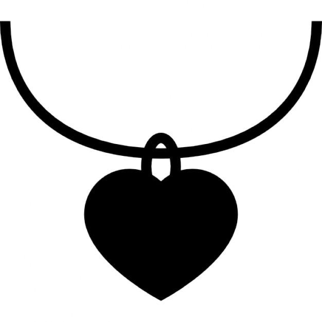 Herzförmige Schmuck-Anhänger | Download der kostenlosen Icons