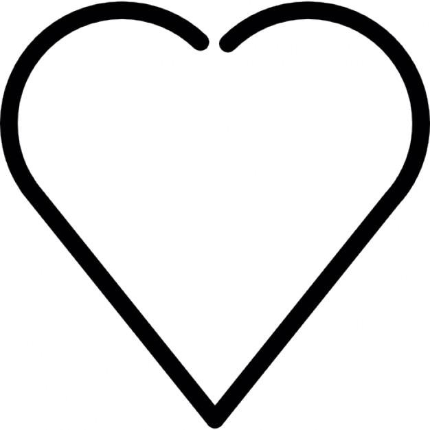 Herzförmige weiße Kontur | Download der kostenlosen Icons