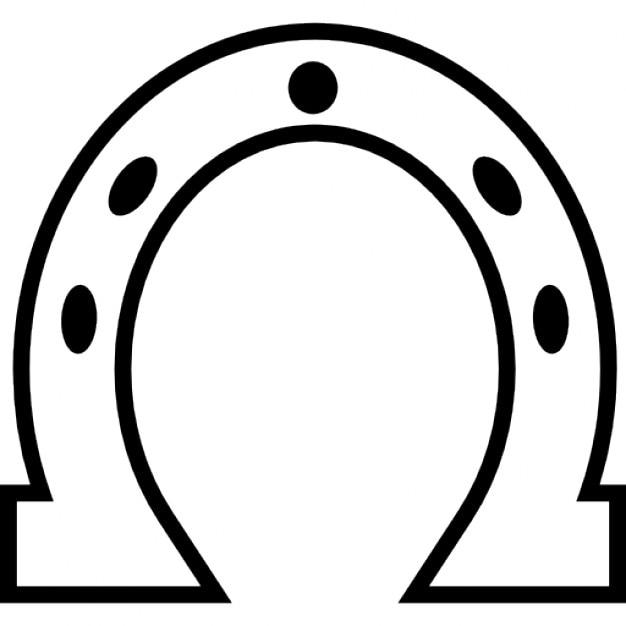 Hufeisen Weiß umrissen Form | Download der kostenlosen Icons