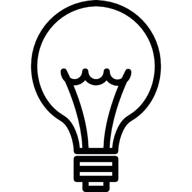Idee. Glühbirne dünne Linie, ios 7-Schnittstelle Symbol | Download ...