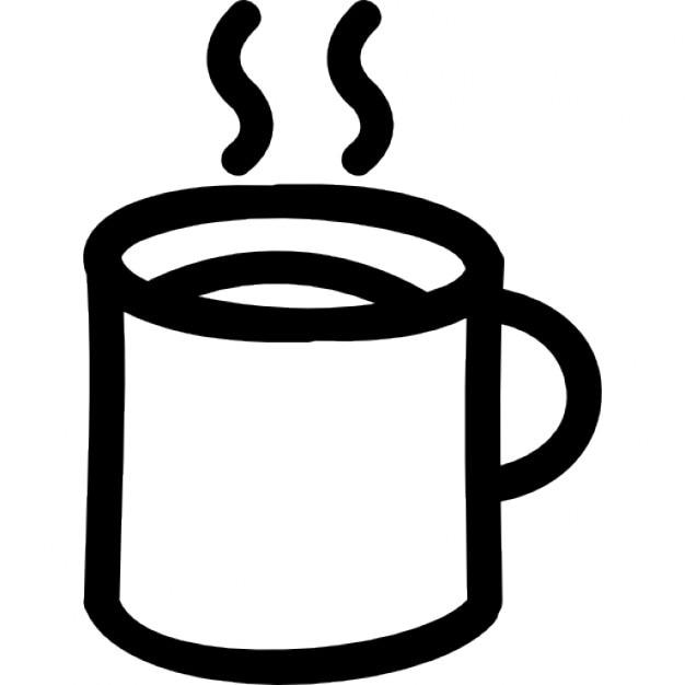 Kaffee Heißen Becher Hand Gezeichnete Umriss Download Der