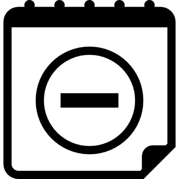 Kalender-Schnittstelle Symbol mit Minuszeichen   Download der ...