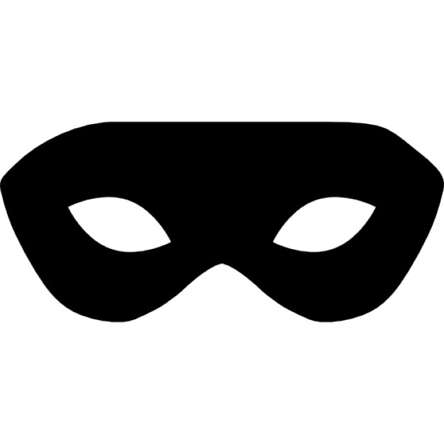 Karneval schwarze Maske für Männer | Download der kostenlosen Icons