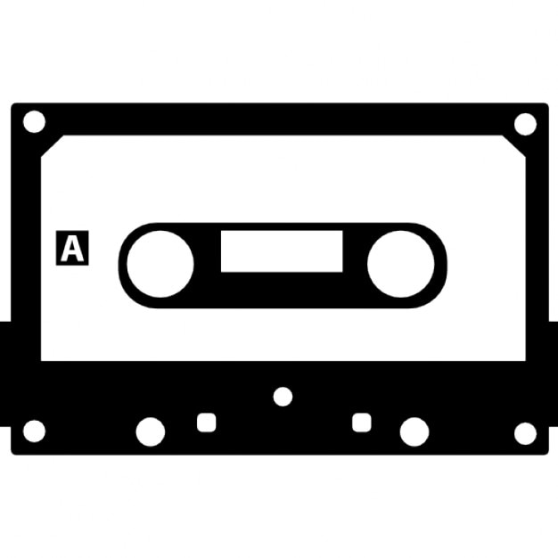 kassette mit schwarzem rand download der kostenlosen icons. Black Bedroom Furniture Sets. Home Design Ideas