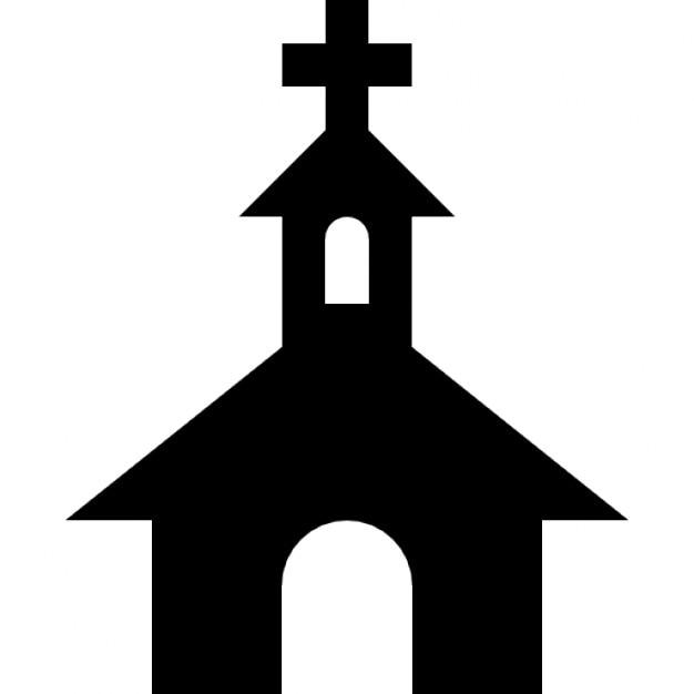 kirche schwarzen silhouette mit einem kreuz an der spitze download der kostenlosen icons. Black Bedroom Furniture Sets. Home Design Ideas