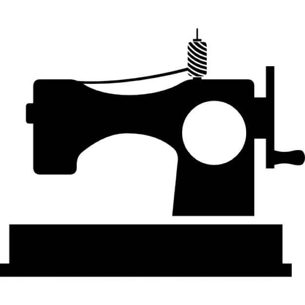 Klassischen Nähmaschine mit Garnrolle   Download der kostenlosen Icons