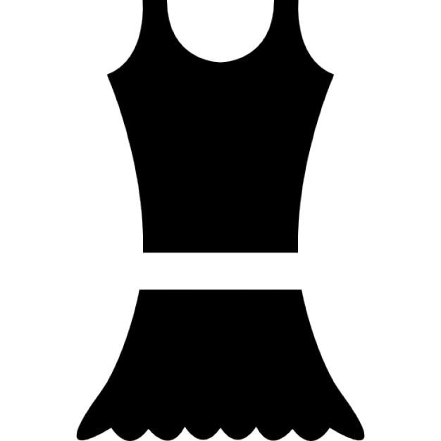 Kleid mit kleinen Rock | Download der kostenlosen Icons