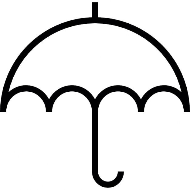 kleinen regenschirm umriss  download der kostenlosen icons