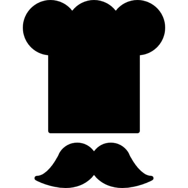 Koch Haube und Schnurrbart | Download der kostenlosen Icons