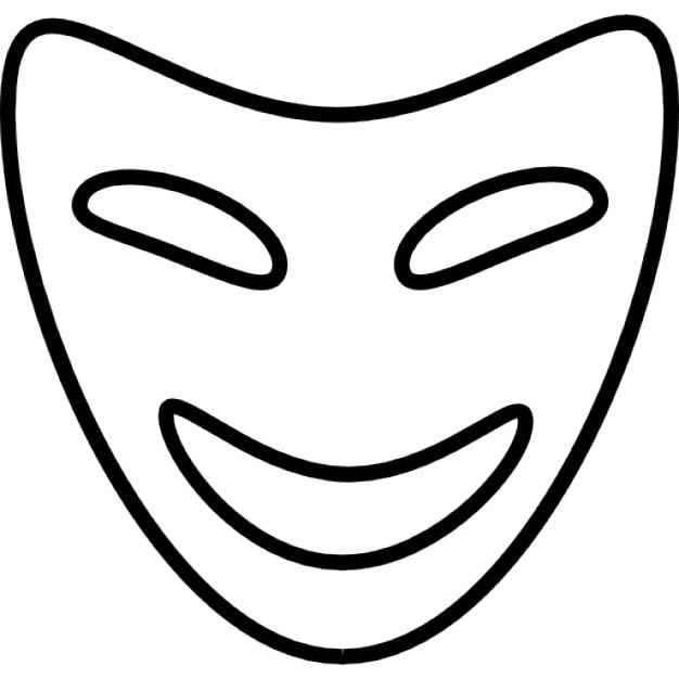 Komödie Maske, iOS-7-Schnittstelle Symbol | Download der kostenlosen ...